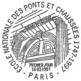 Oblitération 1er jour à Paris le 14 février 1997