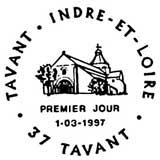 Oblitération 1er jour à Tavant le 1 mars 1997