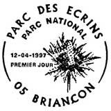 Oblitération 1er jour à Briançon le 12 avril 1997