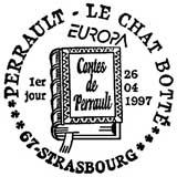 Oblitération 1er jour à Strasbourg le 26 avril 1997
