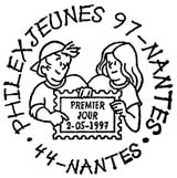 Oblitération 1er jour à Nantes le 2 mai 1997