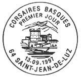 Oblitération 1er jour à Saint-Jean de Luz le 13 septembre 1997