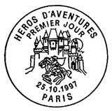 Oblitération 1er jour à Paris le 25 octobre 1997