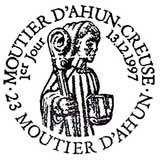 Oblitération 1er jour à Moutier d'Ahun le 13 décembre 1997