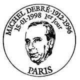 Oblitération 1er jour à Paris, Amboise et Saint-Denis (Réunion) le 15 janvier 1998