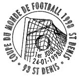 Oblitération 1er jour à Saint-Denis le 24 janvier 1998