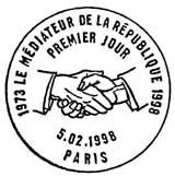 Oblitération 1er jour à Paris le 5 février 1998