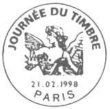 Oblitération 1er jour à Paris le 21 février 1998