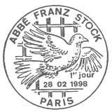 Oblitération 1er jour à Paris et Chartes le 21 février 1998