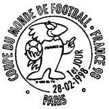 Oblitération 1er jour à Paris le 28 février 1998