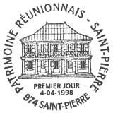 Oblitération 1er jour à Saint-Pierre (Réunion) le 4 avril 1998