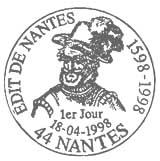 Oblitération 1er jour à Pau et Nantes le 18 avril 1998