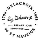 Oblitération 1er jour à Saint-Maurice le 18 avril 1998