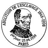 Oblitération 1er jour à Paris, Nantes, Champagney, Basse-Terre (Guadeloupe), Cayenne (Guyanne), St-Denis (Réunion), Fort-de-France (Martinique) le 25 avril 1998