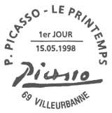 Oblitération 1er jour à Villeurbanne le 15 mai 1998