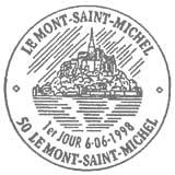 Oblitération 1er jour au Mont Saint-Michel le 6 juin 1998