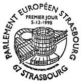 Oblitération 1er jour à Strasbourg le 5 décembre 1998