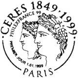 Oblitération 1er jour à Paris le 1 janvier 1999