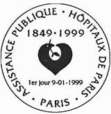 Oblitération 1er jour à Paris le 9 janvier 1999