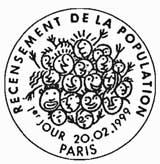 Oblitération 1er jour à Paris le 20 février 1999