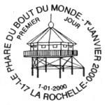 Oblitération 1er jour à Paris, La Rochelle et Nantes le 1 janvier 2000