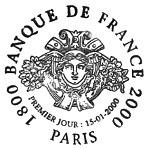 Oblitération 1er jour à Paris et Chamalières le 15 janvier 2000