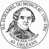 Oblitération 1er jour à Orléans le 13 mai 2000