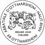 Oblitération 1er jour à Ottmarsheim (Haut-Rhin) le 17 juin 2000