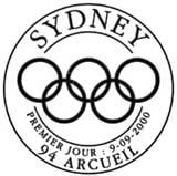 Oblitération 1er jour à Arcueil le 9 septembre 2000