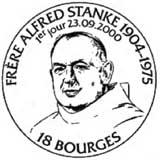 Oblitération 1er jour Bourges le 23 septembre 2000