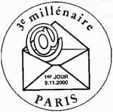 Oblitération 1er jour à Paris le 9 novembre 2000