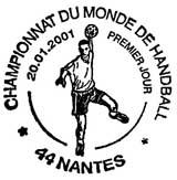 Oblitération 1er jour Nantes le 20 janvier 2001
