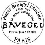 Oblitération 1er jour à Paris le 3 février 2001
