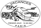 Oblitération 1er jour à Paris le 19 juin 2001