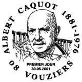Oblitération 1er jour à Vouziers le 30 juin 2001