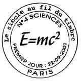 Oblitération 1er jour à Paris le 22 septembre 2001
