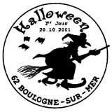 Oblitération 1er jour à Paris ou Boulogne sur Mer le 22 octobre 2001
