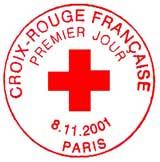 Oblitération 1er jour à Paris le 8 novembre 2001