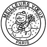Oblitération 1er jour à Paris le 9 novembre 2001