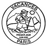 Oblitération 1er jour à La Rochelle le 8 juin 2002