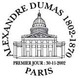 Oblitération 1er jour à Paris le 30 novembre 2002