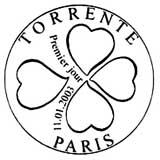 Oblitération 1er jour à Paris le 1 janvier 2003