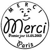 Oblitération 1er jour à Paris en 2003