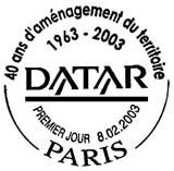 Oblitération 1er jour à Paris le 8 février 2003