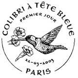 Oblitération 1er jour à Fort de France (Martinique), St Denis (Réunion), Matoury (Guyane), et Pointe à Pitre (Guadeloupe) le 22 mars 2003