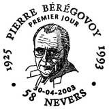 Oblitération 1er jour à Nevers et Déville les Rouen le 30 avril 2003