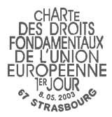 Oblitération 1er jour à Strasbourg le 8 mai 2003