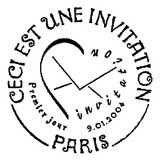 Oblitération 1er jour à Paris le 9 janvier 2004