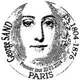 Oblitération 1er jour à Paris et Nohant Vie le 20 mars 2004