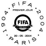 Oblitération 1er jour à Paris le 21 mai 2004